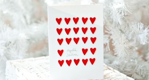 Sydämellinen joulukortti | Tiimari