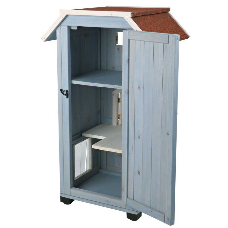 ... cat house for your managed feral friends outside! Trixie 3-Story Cat