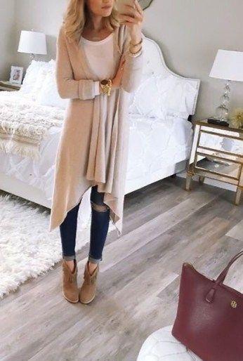 cool 44 Stylish Cardigan Outfit Ideas Winter viscawedding.com/…