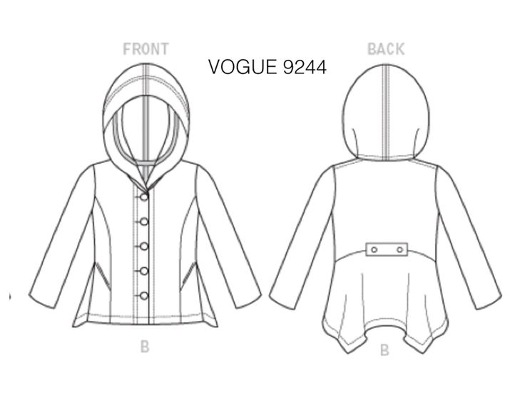 """Marcy Tilton   Blog for Everyday Creatives  fir the t-shirt:  Use the hoodie pattern to make the t-shirt      Eliminate the hood     Cut the center front on a fold, placing the fold line at the center front line     I opened up the neck, lowered the back neck about 3/8""""     Matched the front to the back at the shoulder seam     Used the neckline from a favorite basic t-shirt for the center front neckline  Made the t-shirt just a bit smaller than the jacket so it would nest under easily."""