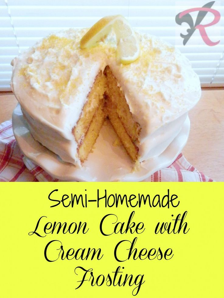 lemon cake with cream cheese frosting s semi lemon cake with cheese frosting 5468