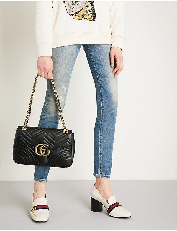 055e34fe9b41f4 GUCCI GG Marmont medium leather shoulder bag in 2019 | Gucci | Gg ...