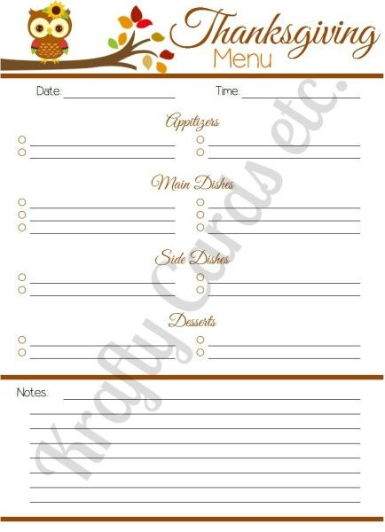 Best 25+ Thanksgiving menu planner ideas on Pinterest Happy - menu planner template printable