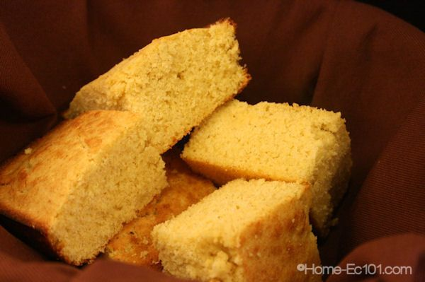 Gluten Free Cornbread- fast and simple  I'll substitute maple syrup for sugar