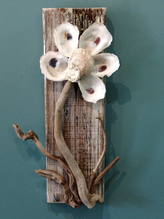 Oyster Flower Wall Decor by 3DriftsAway on Etsy