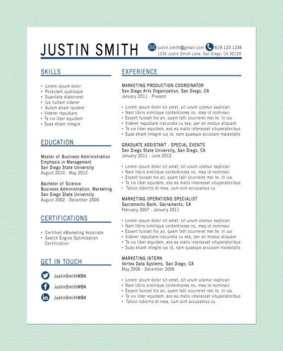 165 Best Images About Resume Templates On Pinterest