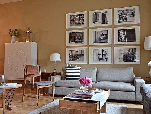 wallWall Art, Living Rooms, Livingroom, Paris Photography, Living Room Wall, Photos Wall, Gallery Wall, Pictures Frames, Photos Arrangements