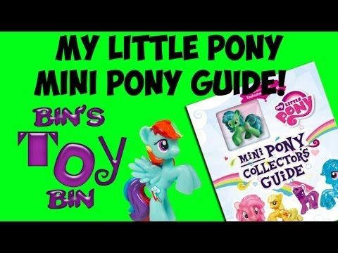 My Little Pony MINI PONY COLLECTOR'S GUIDE Book Review! by Bin's Toy Bin - YouTube