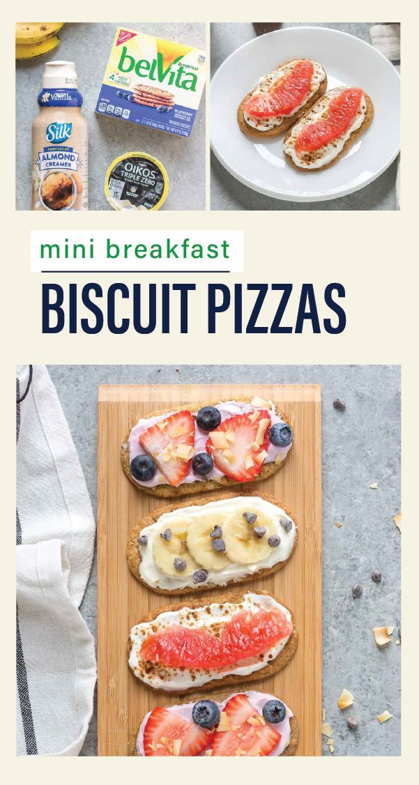 What do you get when you combine belVita Breakfast Biscuits, Dannon Oikos Triple Zero Yogurt, fresh fruit, and tasty toppings? The ideal morning recipe of course—these Mini Breakfast Biscuit Pizzas. When paired with coffee and Silk Almond Creamer, this fun and easy dish can make tackling your New Year's resolutions that much easier—and not to mention, tastier too! Find all the ingredients you'll need to change up your morning recipes at Kroger.