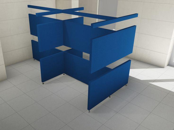 """Linea TXT """"brick"""" - Pannelli divisori, pareti mobili, separè su ruote, schermi flessibili, progettazione, produzione e vendita - Clipper System"""