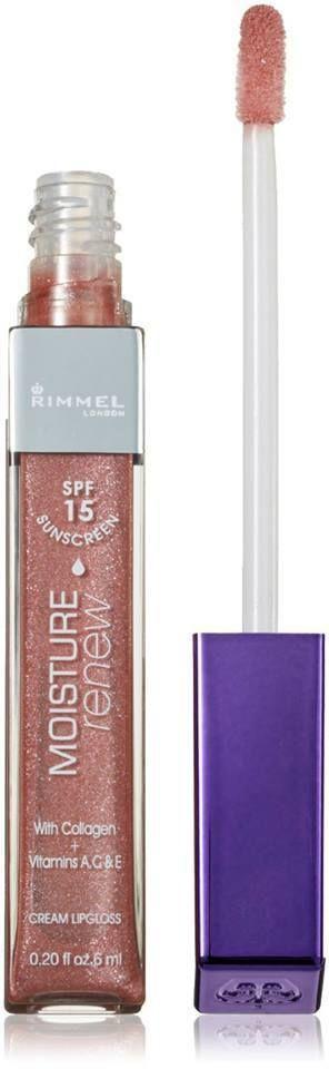 2XRIMMEL Moisture Renew Lip Gloss with Vitamins and Collagen -SPF15-2 Shades-5ml #RimmelLondon