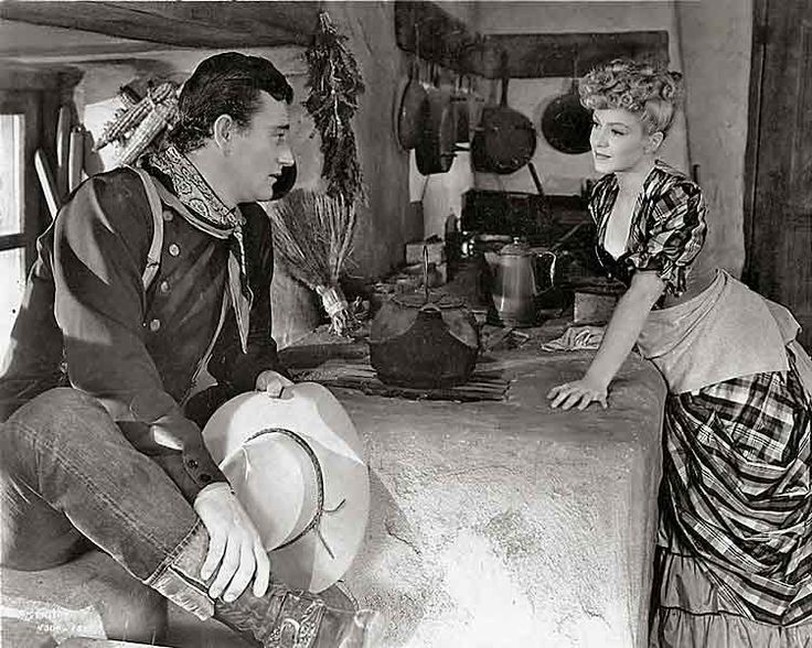 """From """"My Darling Clementine""""—Wyatt Earp (Henry Fonda) and Clementine Carter (Cathy Downs) in a scene edited out of the final release version of the film."""