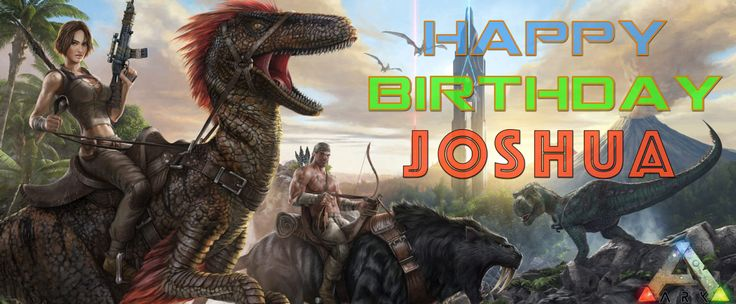 Dinosaur Birthday Party - ARK Survival Evolved - Custom Birthday Banner  (Digital File) by MyLifeHappens on Etsy https://www.etsy.com/listing/506635562/ark-survival-evolved-custom-birthday