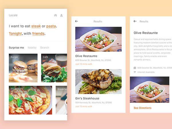 79 best mobile ux food images on pinterest aplicacin de diseo 40 food app ui design to inspire you forumfinder Images