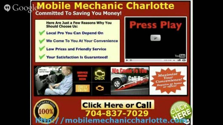Mobile Mechanic Charlotte North Carolina Auto Car repair service call 704-837-7029