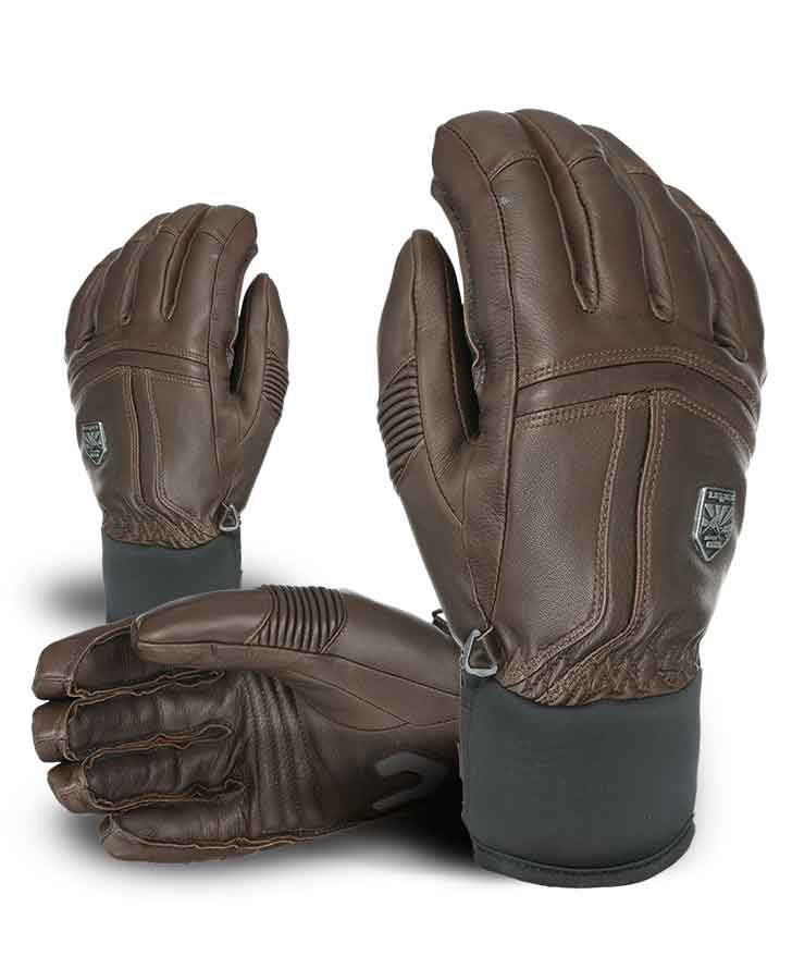 OFF PISTE LEATHER. All mountain leather short cuff ski glove, a favorite of the LEVEL pro team for its styling and warmth.