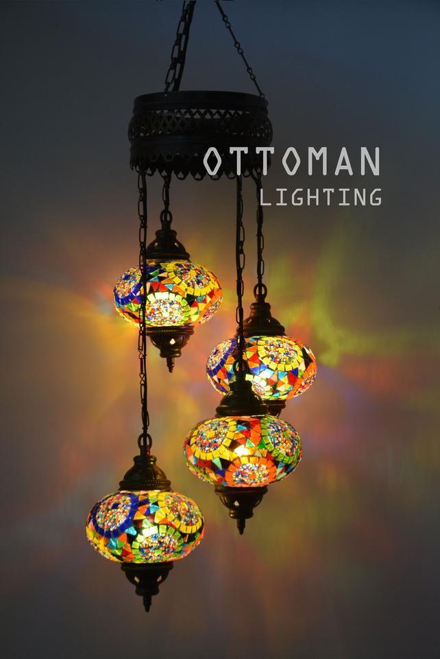 179fc1ca46209 Handmade Turkish 4 big globe amazing chandelier, morrocan decor ...