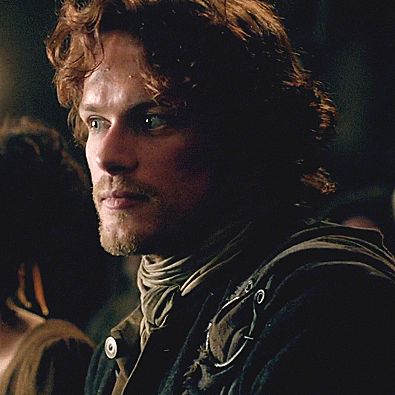 Jamie in the hall, between Claire and Laoghaire, I think