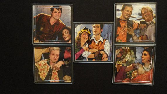 Firefly Serenity Comic Book Coaster Set by EpicButtons on Etsy, $25.00