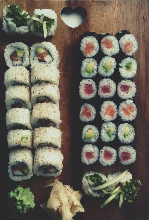 Salmon, Avocado, Tuna, Ginger, Wasabi, Natural Wood, and a Fantastic Filter
