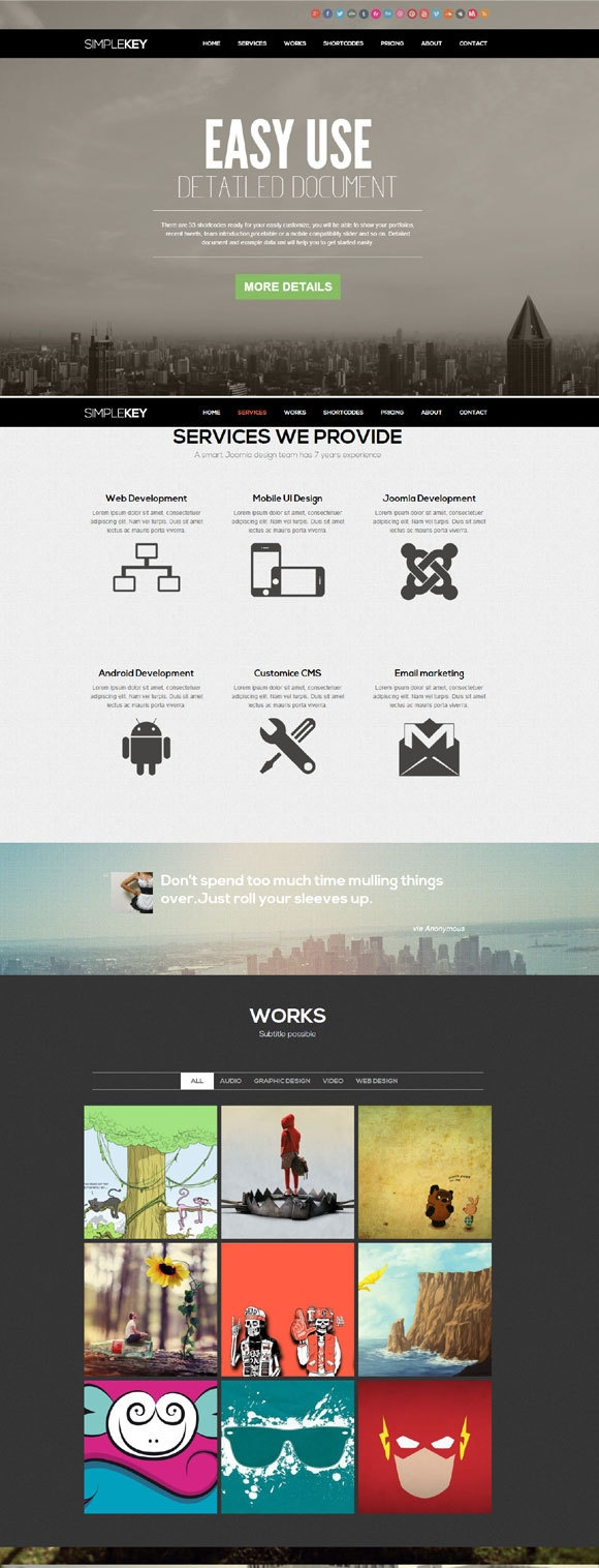 SimpleKey Joomla! Template on Behance