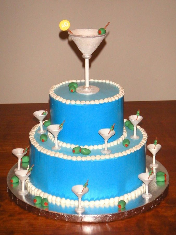 martini birthday cake - Google Search