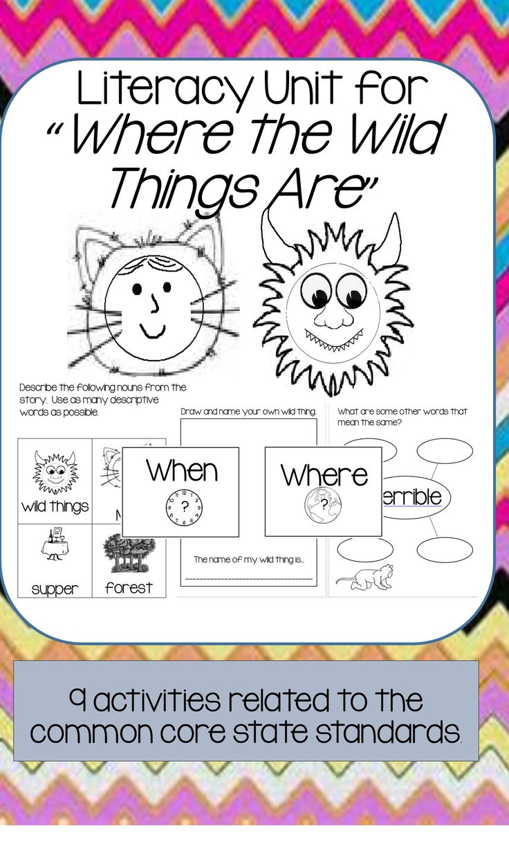 Best 100 literacy activities images on pinterest wild things where the wild things are book unit ela activities fandeluxe Gallery