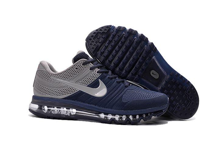 Nike Air Max 2017 2 Heren Loopschoenen Marine Grijs