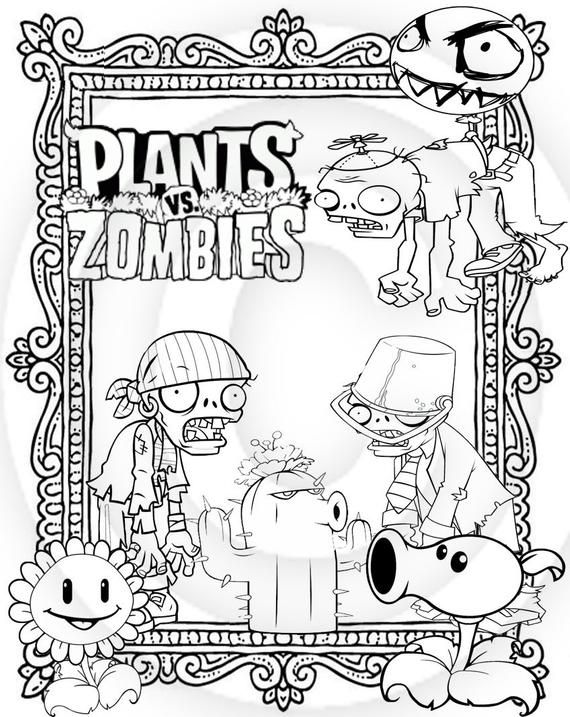 Plants Vs Zombies Printable Puzzle Quiz Colouring Book Ideal Stocking Filler Party Loot Bag Or Wedding Activity Keep Busy Book Coloring Books Color Puzzle Plants Vs Zombies