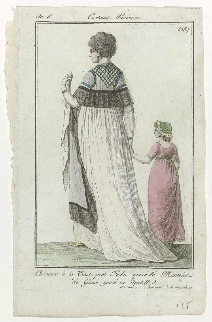 Journal des Dames et des Modes, Costume Parisien, 25 mai 1798, An 6, (38) : Cheveux à la Titus..., Anonymous, 1798