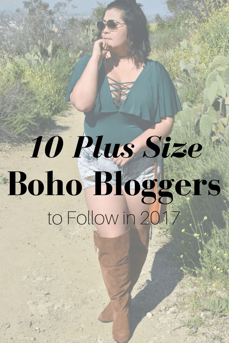 Roundup of plus size boho bloggers to follow in 2017! -- these curvy fashionistas have an indie hipster style.    Bohemian plus size fashion, plus size hipster style, plus size hipster blog, plus size boho blog, plus size bohemian blogger, plus size indie blog, plus size indie fashion