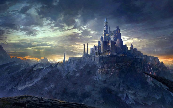 Image For Fantasy Mountain Castles Wallpaper Free HD Study