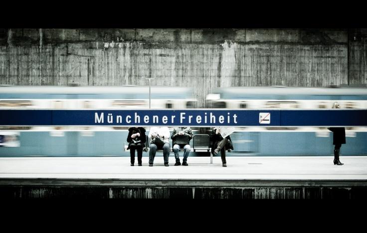Munchener Freiheit, Munich, U-Bahn, Subway, Underground Station