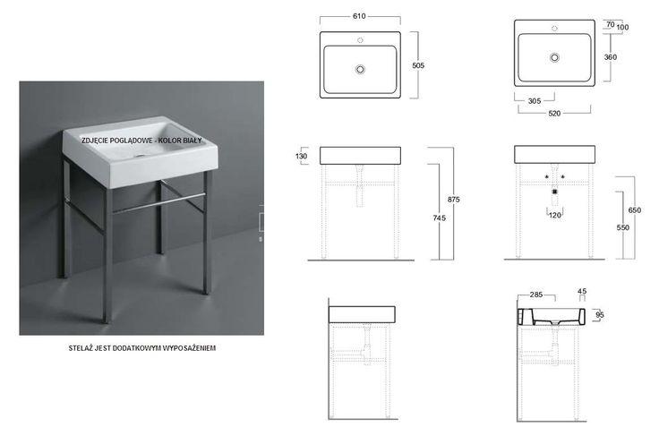 Umywalka Simas Frozen 61x50,5 U60 Nero - Umywalki - wyposażenie wnętrz Max-Fliz