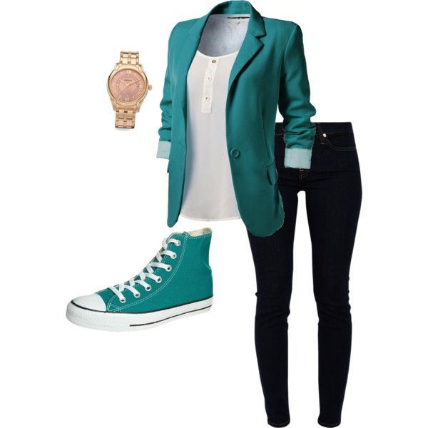 Gotta love my chucks!! and one of my fav colors.  casual shoes women business casual 2014-2015