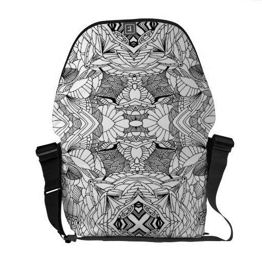 Abstarct design courier bag
