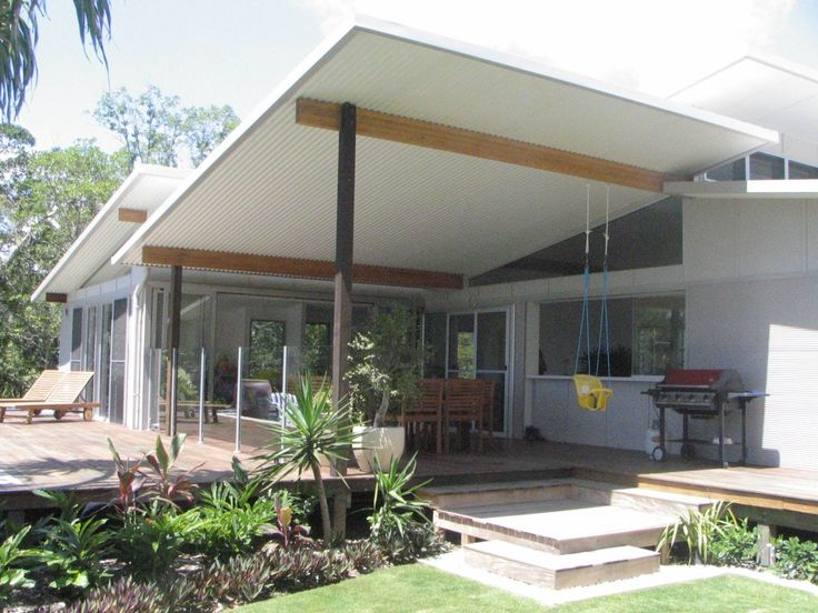 Multi-purpose Ritek Roof System, house roof and deck roof creating architectural flair!