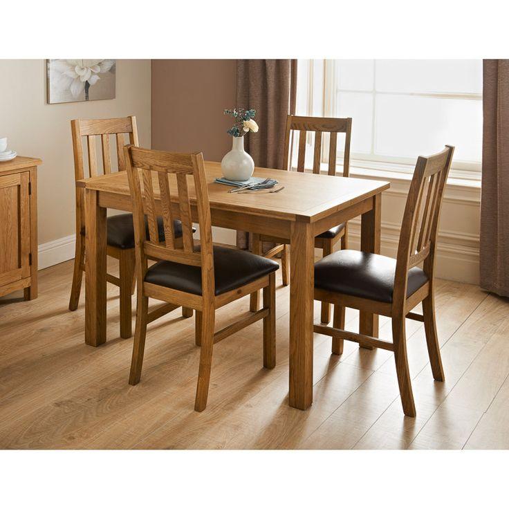 Hampshire oak dining set 5pc oak dining sets rustic table rustic