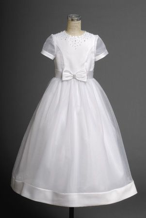 Cost-efficient Cheap Cute Short Sleeves A-line Organza Hottest Flower Girl Dress 2014