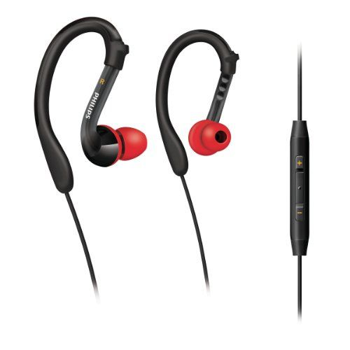 Philips ActionFit SHQ3017/28 Sports Earhook Headset (Black/Red)