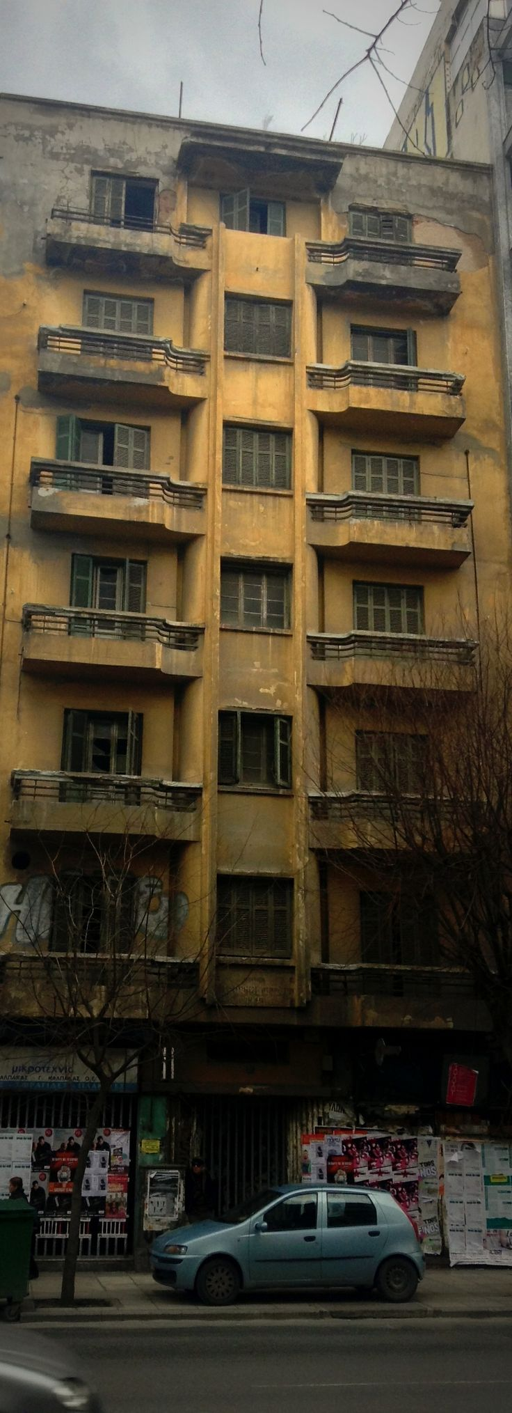 Old apartment block or hotel on Egnatia str., Thessaloniki.