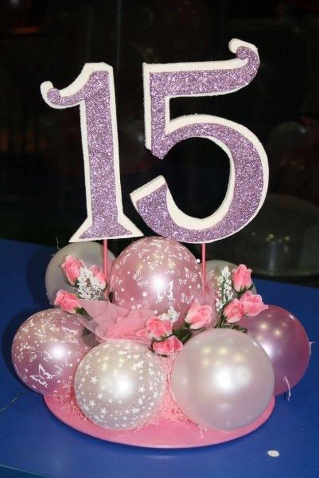 9 centros de mesa para 15 años - Centros de Mesa                                                                                                                                                                                 Más