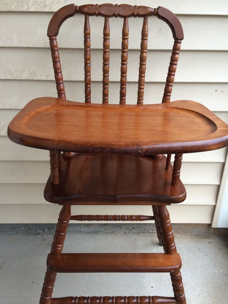 The 25 best Vintage high chairs ideas on Pinterest Wooden baby