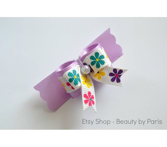 Colorful Daisy Dog Bow by BeautybyParis on Etsy