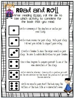 """Classroom Freebies Too: """"Read and Roll!"""" Reading Responses"""