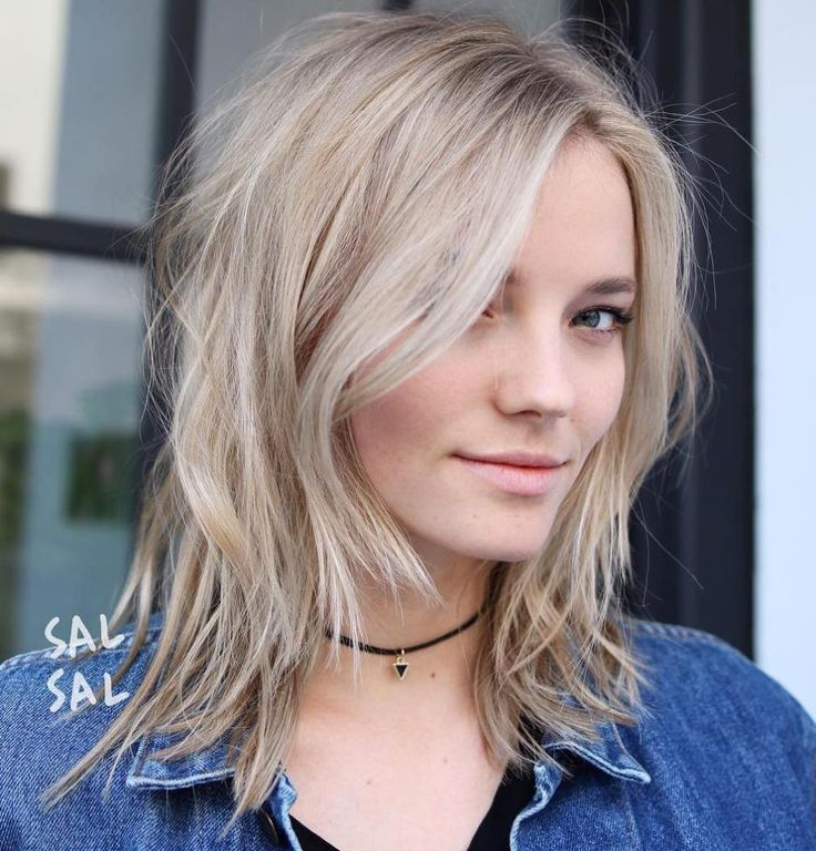 Medium Shaggy Hairstyle For Thin Hair