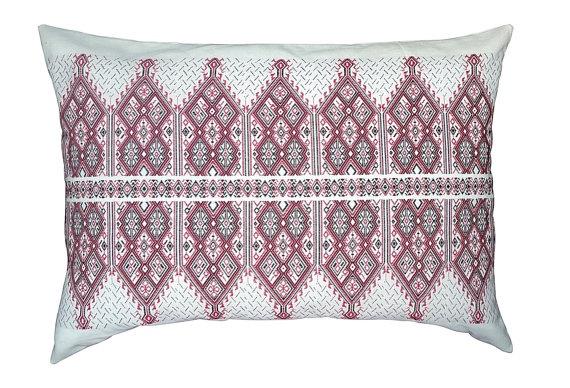 Traditional Cretan Embroidered Textile Pillow by annamariacoscoros, €30.00