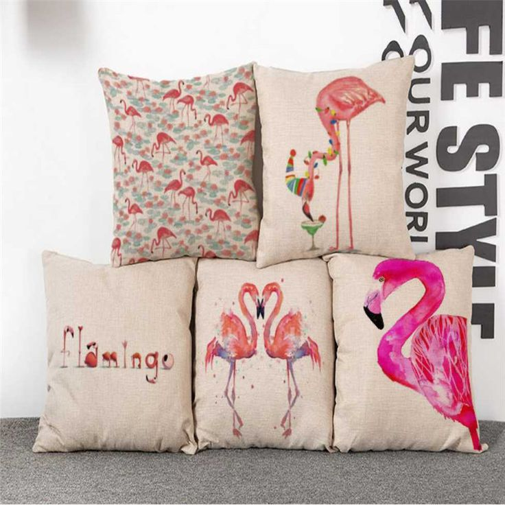 """Cheap 2016 di Nuovo Modo La creatività di lino cuscino vita cuscino Pink Flamingo acquerello arte Spedizione gratuita, Compro Qualità Cassa del cuscino direttamente da fornitori della Cina: specifiche tecniche:tipo: Cuscini e Gettamateriale: 100% cotone e teladimensioni: 43x43 cm (18 """" x 18 """")Partic"""