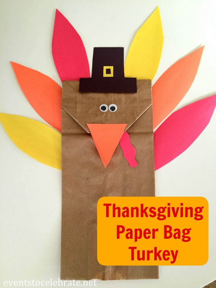 Thanksgiving Turkey Craft for Preschool along with a full Thanksgiving Party plan - events to CELEBRATE!