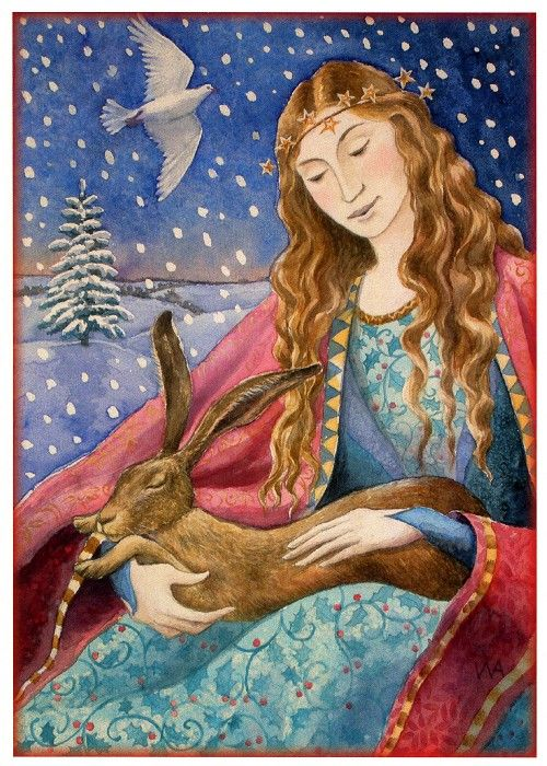 Peace at Yule Winter Solstice / Yule Greetings Card by Wendy Andrew - Yule/Winter Solstice - Cards by Occasion / Recipient - Home - Fairy an...